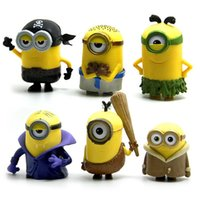 b vampire movies - 6 Style Despicable Me minions Movie toys new Despicable Me pirate vampire lovely cartoon toys cm B
