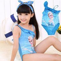 Wholesale 5pcs Baby Girls Swimwear Toddler Swimsuit Character Queen Elsa Anna biquini infantil Children Kids One piece Girls Bathing Suit CL005