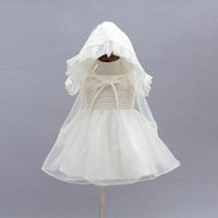 baptism cape - Newborn Christening Gown Party Wedding Dress with Bonnet and Cape Elegant Baptism Dresses for year girl baby birthday3PCS Set
