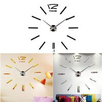 Wholesale Fashion Hot Home DIY decoration large quartz Acrylic mirror wall clock Safe D Modern design Fashion Art decorative wall stickers Watch
