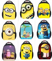Wholesale Cartoon small yellow People cm Children bag Precious Milk Dad Despicable Me2 backpack Despicable Me schoolbags mix style BY0000
