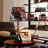 antler table lamps - Classic Antlers Resin Iron Desk Lamp Tiffany Style Art Decors Luminaria De Mesa Living Room Study Lighting Table Light Reading