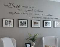 PVC best modern classical - English quote quot The Best Things In Life People Places quot Quote Vinyl Wall Decal Waterproof and Removable Sticker