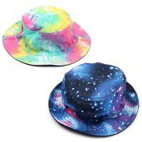 Wholesale New Unisex Star Rainbow Bucket Hats Hunting Fishing Outdoor Summer Style Sun Cap Sports Fisherman Hat