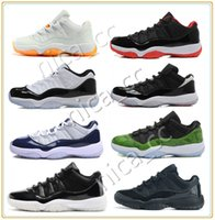 Wholesale Hot Retro Low Basketball Shoes Bred Georgetown Space Jam Citrus GS Basketball Sneakers Women Men Low Cut Athletics Boots Retro XI