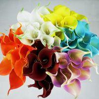 artificial mini flowers - DIY Artificial Calla Flower Color MINI Decorative Flowers Festive Party Favors Valentines Gift Online SK602
