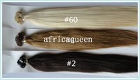 "Cheap 18""~28"" Brazilian Straight Africaqueen Hair Extensions Prebonded natural color Human Remy Hair Flat Tip Hair Extensions in stock"