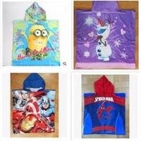 average boy - Newest cm Cartoon Despicable Me Towel Cotton Bathroom towels Hooded The Averages Children Baby beach towel kids styles A387