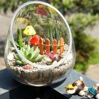 Wholesale New Mini World Micro Landscape Ornaments DIY Simulation Flexible Flower Fence