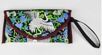 Wholesale YX peacock double sided embroidery ethnic Wallet cm