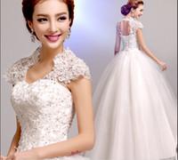 Wholesale Weddong dress Sexy racerback princess puff skirt winter lace wedding dress long dress