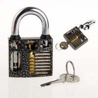 Wholesale NEW Padlock Practice Lock w Keys Padlock with Key Padlock Shims Quick Open Practice Locks Set of Keys Locksmith Tool Lock Pick Lockpick