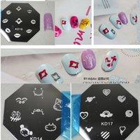 Wholesale 10pcs NEW DIY Polish Stamping Plates Lovely Mixed Printing Designs Nail Art Plates Image Templates Stamp Styling Tools NAO07