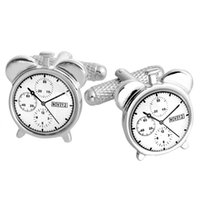 bella stainless steel - BELLA New Clock Time Reminder Cuff Links Genuine Stainless Steel Wedding Cuff Links For Bridegroom For Men For Lovers