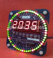 Wholesale Electronic clock kit electronic DIY kit parts rotating LED clock kit temperature display