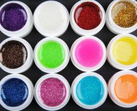 acrylic glitter mix kit - Glitter UV Gel Mix Colors Builder False Tips Acrylic Nail Art Polish Kit Set Color phototherapy glue