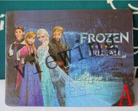 Wholesale 2014 New Children Puzzle Game Frozen Puzzle Anna Elsa dvd movies Frozen cartoon puzzle Mix Style Educational toys For Children Kids Students