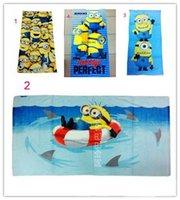 Wholesale Despicable Me cotton large bath towel beach towels style children s Despicable Me cartoon pattern towel