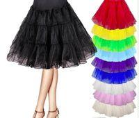 Fingertip Length girls petticoats - 10 colors Cheap In Stock Girls Women A Line Short Petticoats For Short Party Prom Evening Dresses Wedding Dresses ZS019