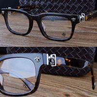 Wholesale chromehearts eyeglasses brand spectacle frame glasses Silver jewelery Vintage men and women handmaker Acetate