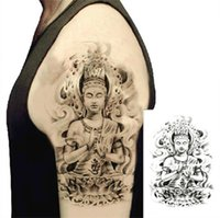 Wholesale Arm Tattoo D Buddha Waterproof Temporary Tattoo Stickers Body Art Stickers Environmental Non toxic DIY Decoration