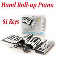 Wholesale DHL Flexible Hand Roll up Roll up Portable Keys Soft Keyboard Piano Synthesizer Electronic Piano Build in Speaker USB MIDI Retail Box