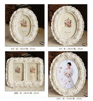 Wholesale Custom Made D wedding display pictures home living room European style retro white wedding photo frame stereoscopic handmade idyllic white