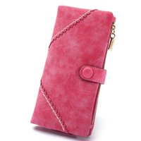 basic notes - Women Synthetic PU Leather Clutch Basic Coin Case Money Clip Wallet Zipper Button Solid Purse