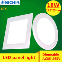 Wholesale 40X Dimmable AC85 V Cold white warm white W LED Ceiling LED Downlights Square Panel Lights Dimming Bulb SMD High quality