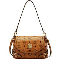 Wholesale MCM Brown Classic VISETOS Portable Shoulder Bag Diagonal Package High Quality PU Handbag Lady Bag Bags