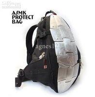 Wholesale Motorcycle backpack ASMK alloy motorcycle bag backpacks metal plate and metal plate top sale