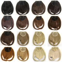 Wholesale 18 Colors Front Bang Hair Bangs Extension Blonde Bang Premium Synthetic Hair Piece False Hair Styling Tools