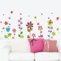 beautiful butterfly wallpapers - DIY Beautiful Flowers Floral Butterfly DIY Wall Stickers Wallpaper Art Decor Mural Room Adesivo De Parede Home Decoration Decals