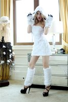 bear costumes for adults - White Polar Bear Costumes women sexy Cosplay party wear Sexy Halloween Costumes for adult WS009