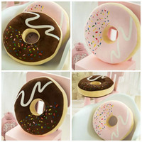 Wholesale Donuts shape chair cushion funny cute Stuffed Plush Toy Dolls Christmas Present Home office Decoration gift styles E352J