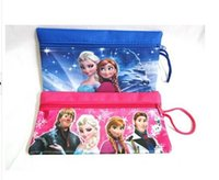 best old school bag - best selling Frozen Pencil Bags student Pencil Bags cartoon Pencil Bags