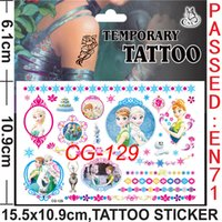 Wholesale Newest D Frozen Fever Temporary Tattoos Stickers Christmas Party Kids Toys Anna Elsa Princess Cartoon Arts Tattoo Stickers