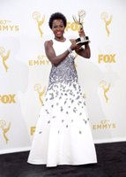 apple tv images - 2015 Viola Davis Evening Dresses The th Emmy Awards TV Queen A Line Cheap Celebrity Dresses Plus Size Red Carpet Gown