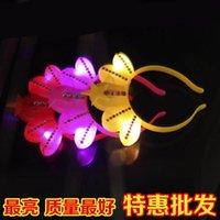 baby hair musical - Light crown head hoop buckle princess with diamond hoop hair flash activities cheering products