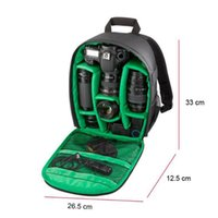 Wholesale Shockproof Waterproof DSLR Backpack Camera Lens Case Bag For Canon Nikon Sony Free Drop Shipping