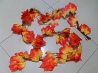 autumn garland - 10x Artificial Maple Leaf Garland Silk Autumn Fall Leaves Wedding Garden Decor