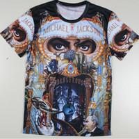 big michael jackson - Men Michael Jackson Rock Print T shirts The Big Bang Theory Sheldon Harajuku Blusas Summer Style T Shirts Plus Size Tshirts Tees