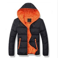 brand winter jacket for men - Fall Brand Tops Men s Cotton Blend Coat Hooded Padded Jacket Casual Thick Outwear For Men Winter Plus Size Clothing For Men