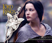 South American american hot film - European Hot Sale Film Necklace The Lord Of Rings Elf Princess Pendant Necklace Arwen Evenstar Necklaces for Women Silver Plated Jewelry