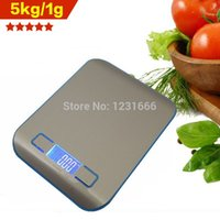 Wholesale 2015 real new kg g digital kitchen scale cooking Household measure tools stainless steel electronic weight balance