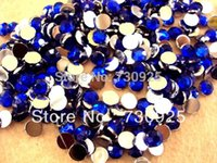 Wholesale 5Y6843 FlatBack Resin Stone Nail Art Rhinestones Glitters Nail Art Gems Decoration minimum order USD