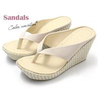 band slippers - women sandals bohemia wedges platform high heeled platform sandals slippers flip flops for women beach sandal slippers women