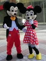 Wholesale Hot Fashion Mouse Couple mascot costume Adult Size Mickey Mouse mascot costume