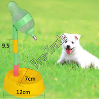 Cheap NEW! 2015 Adjustable Feeder For Pet Dog   Cat Drinking Water Dispenser   Small Dog Food Bowl, Removable Dog Cat Water Dispenser 00714
