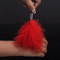 Wholesale Red feather big anal plug tail stimulation flirting sex toys for women foreplay teasing fun anal toys butt plugs